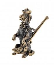 Собака Охотник с ружьем без подставки 1603.1