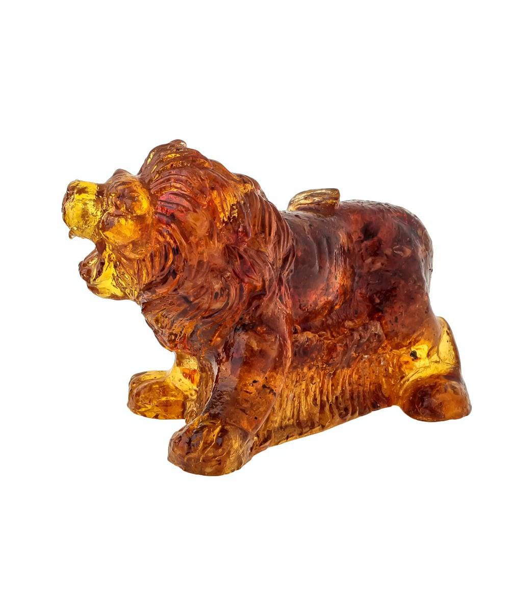 Лев в саванне Янтарный 1397