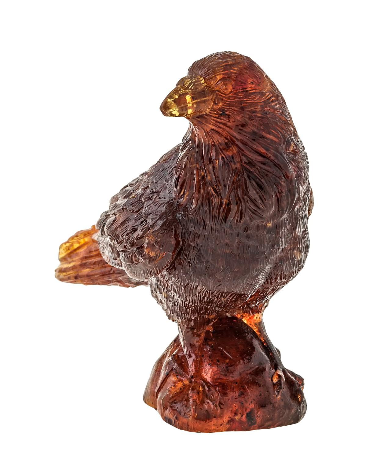 Птица Ворон Глаша Янтарная 1399