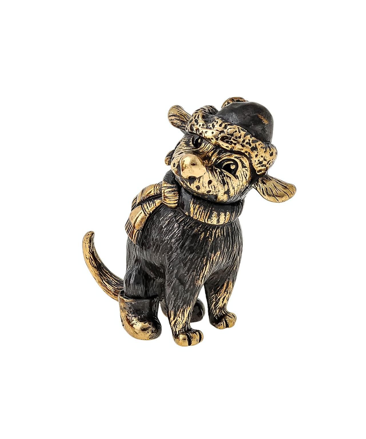 Собака Зимнее счастье без подставки 1645.1