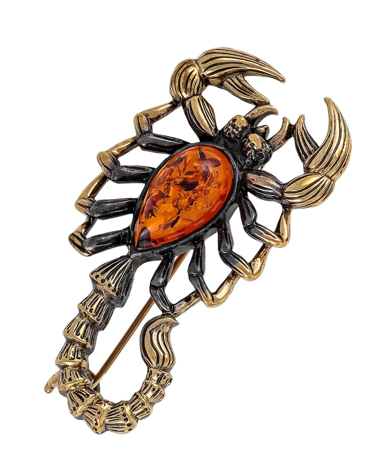 Брошь Скорпион Песочный 1659.4