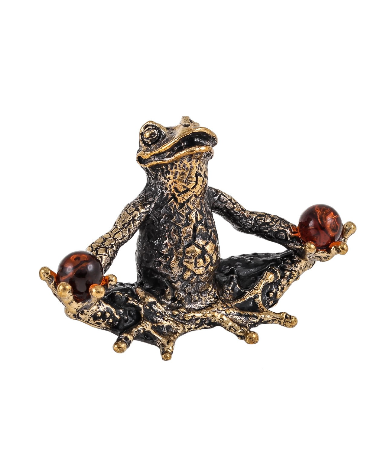 Лягушка Йога Лотос с шарами без подставки 1673.1