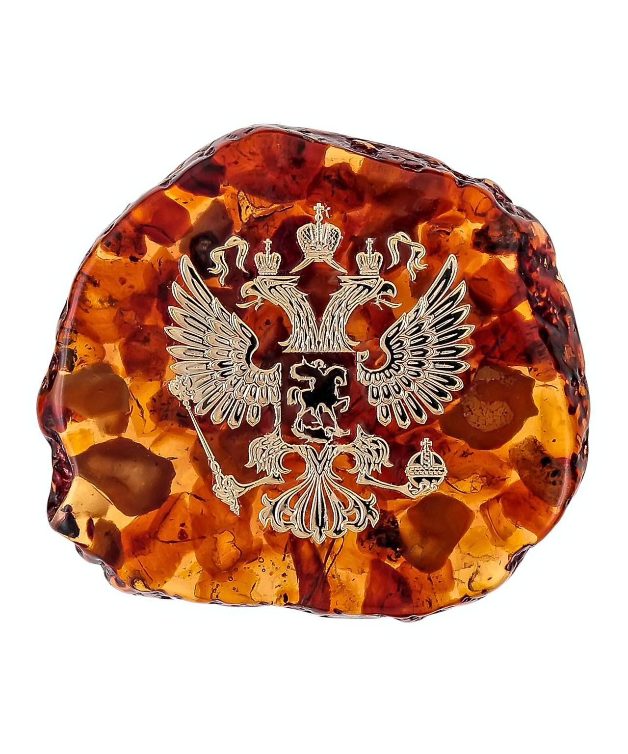 Магнит СПБ Янт. Герб России мал. 1696.6