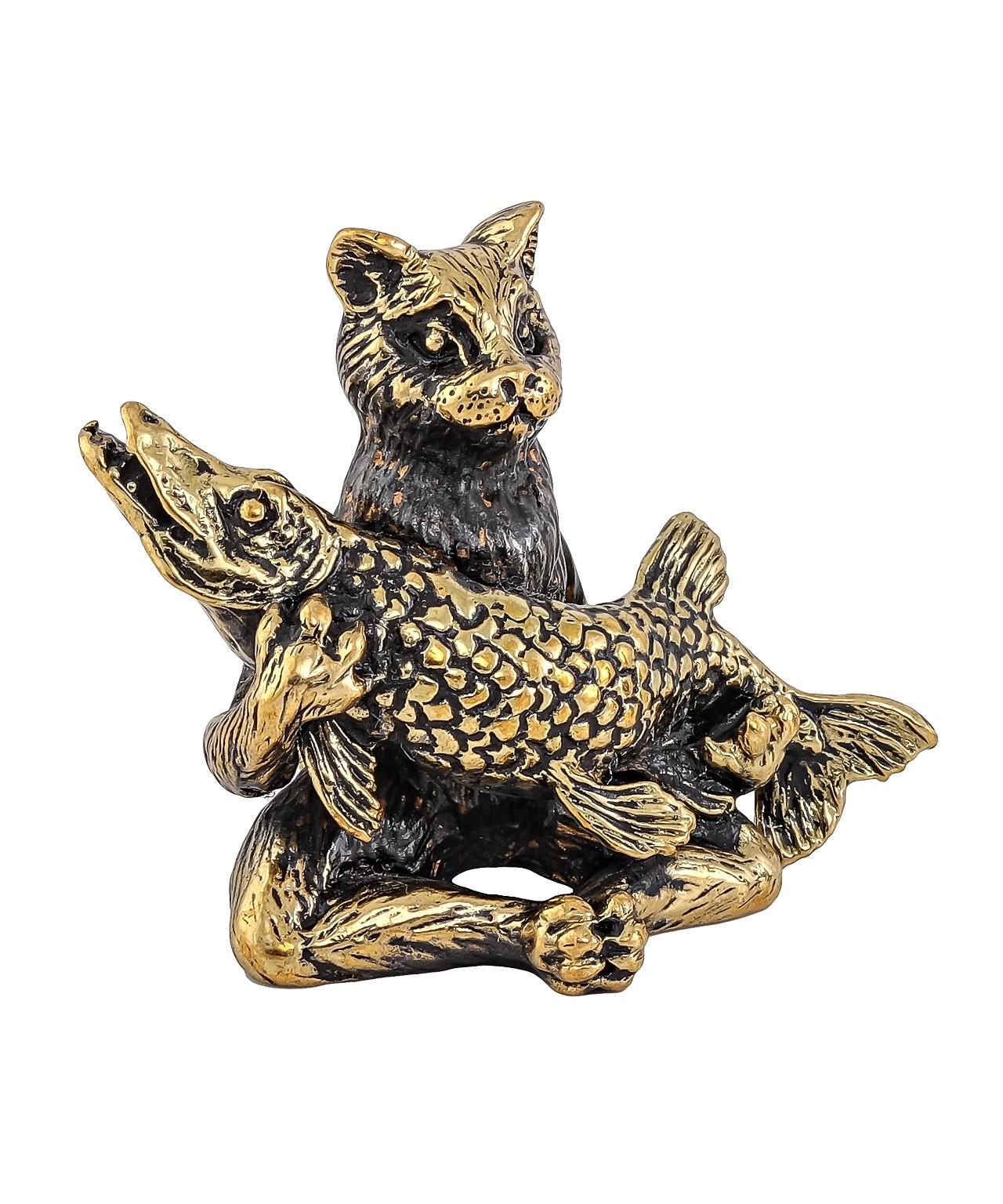 Кот с Щукой без подставкип 1728.1