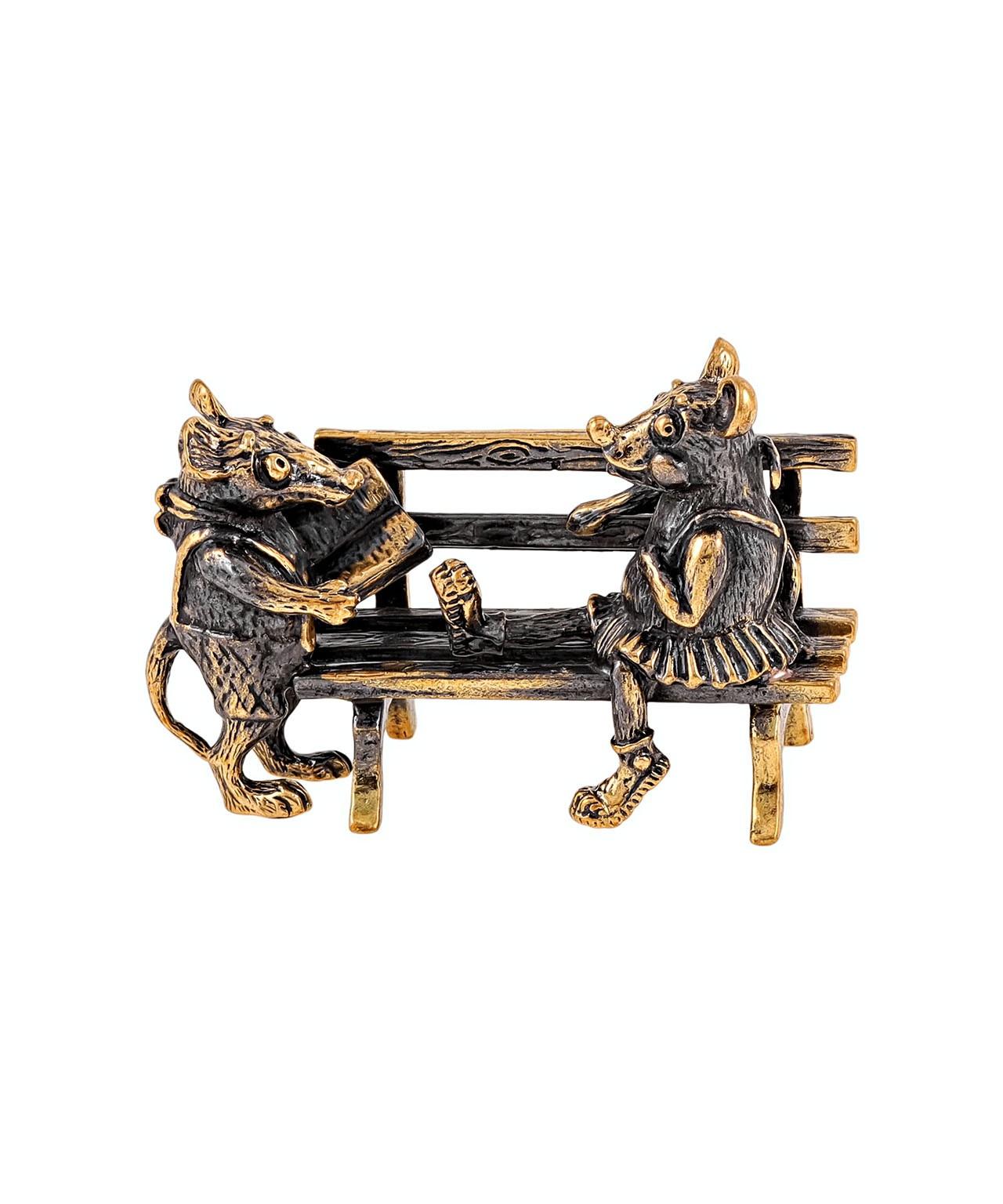 Мышки на скамейки поэзия без подставки 1731.1