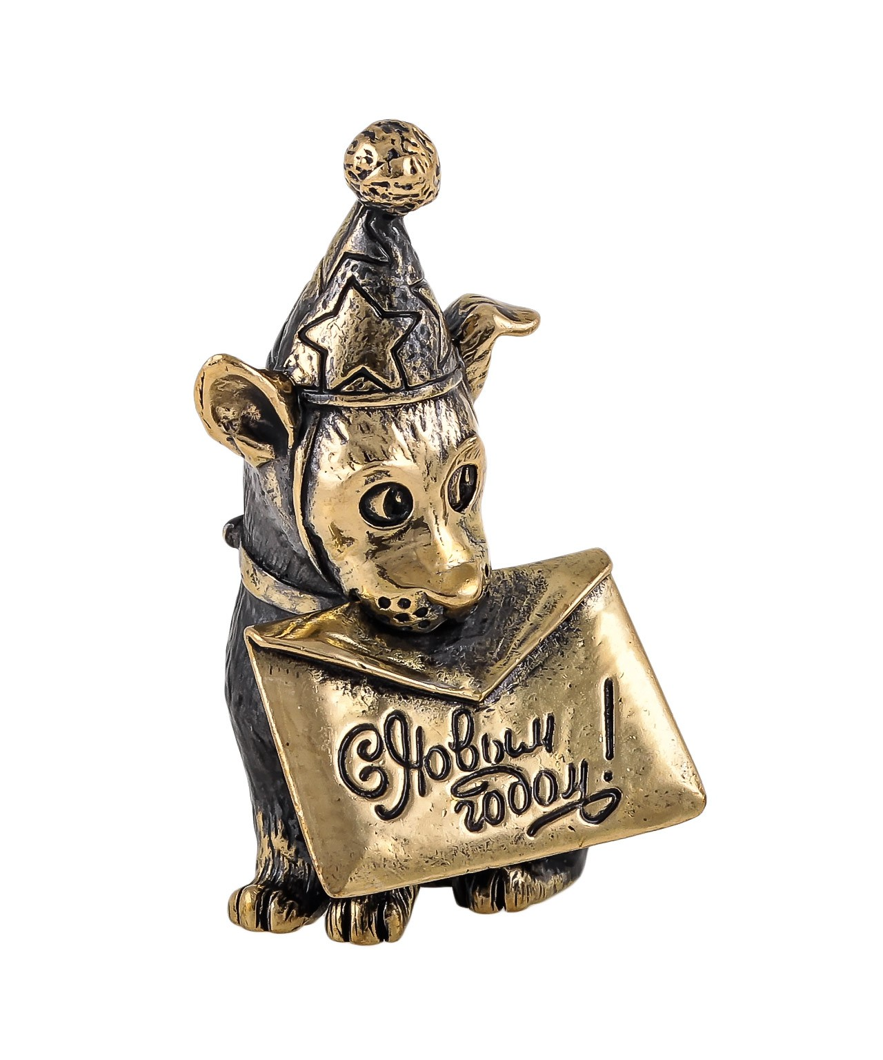 Собака Новогодняя Открытка без подставки 1749.1