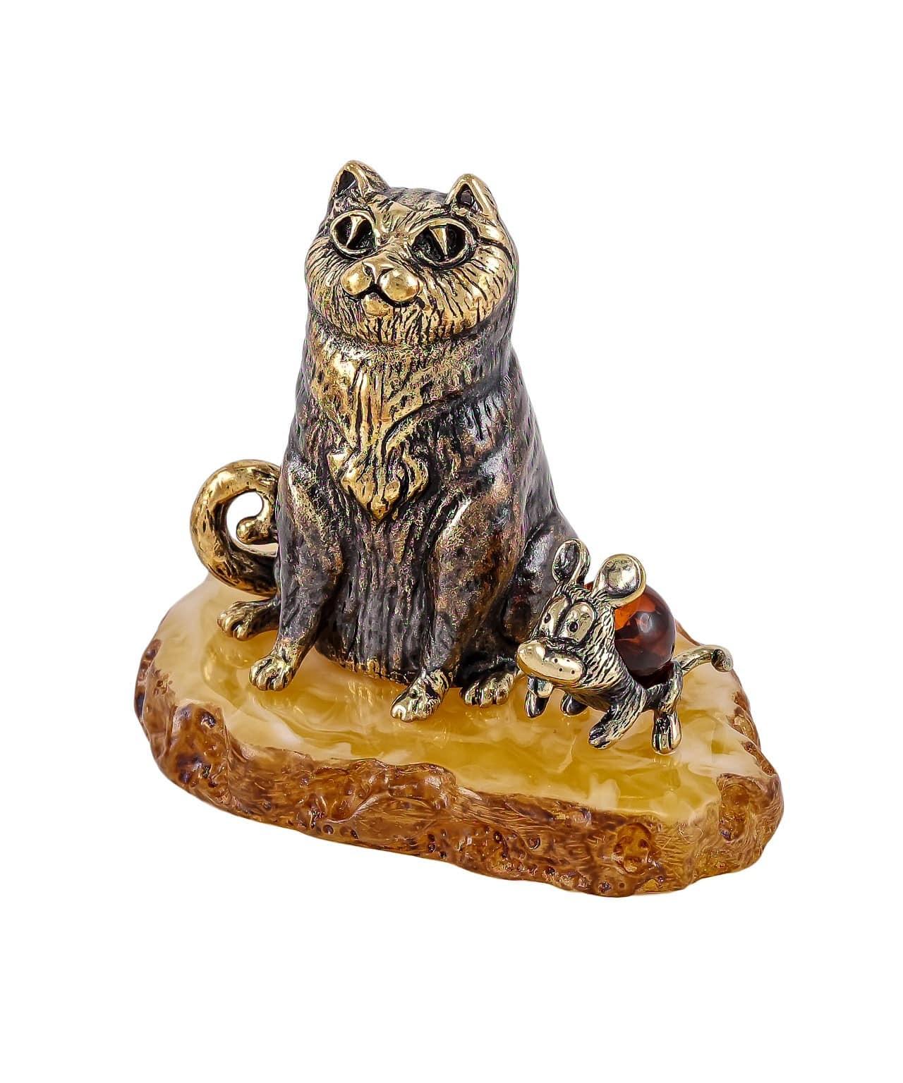 Кот и мышка друзья 1802