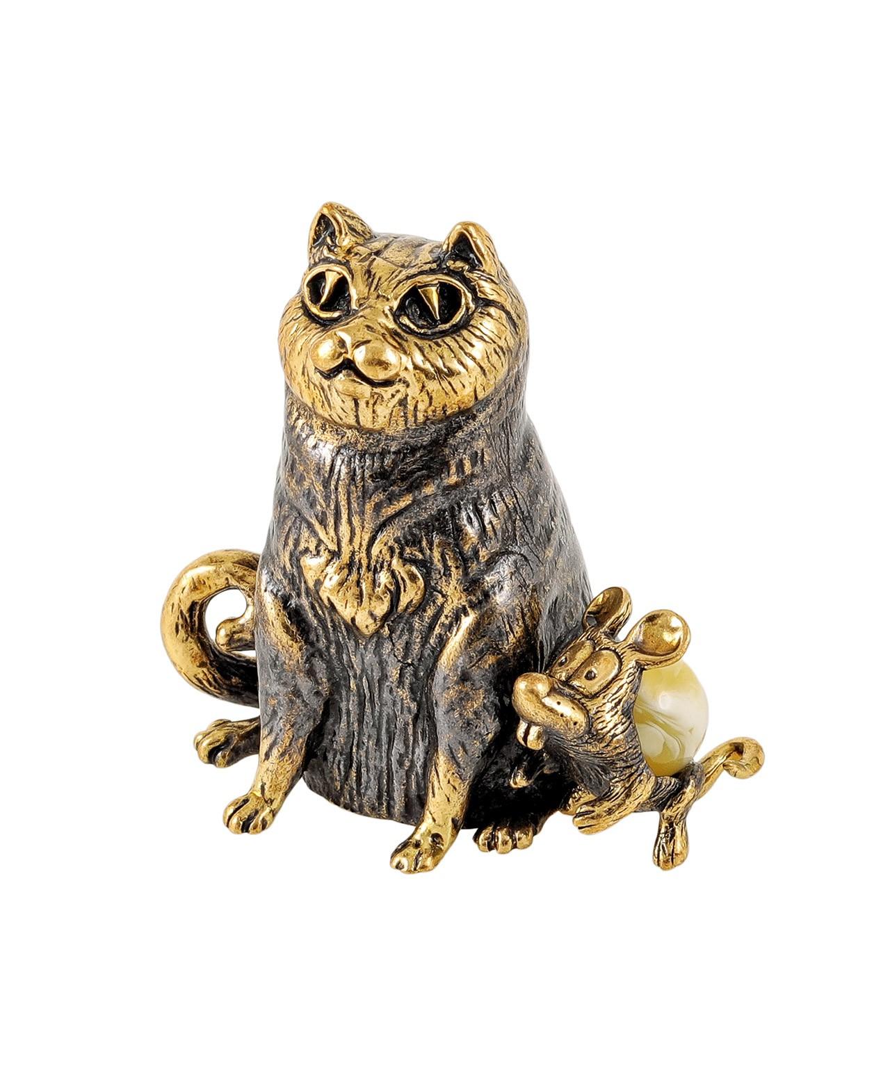 Кот и мышка друзья без подставки 1802.1