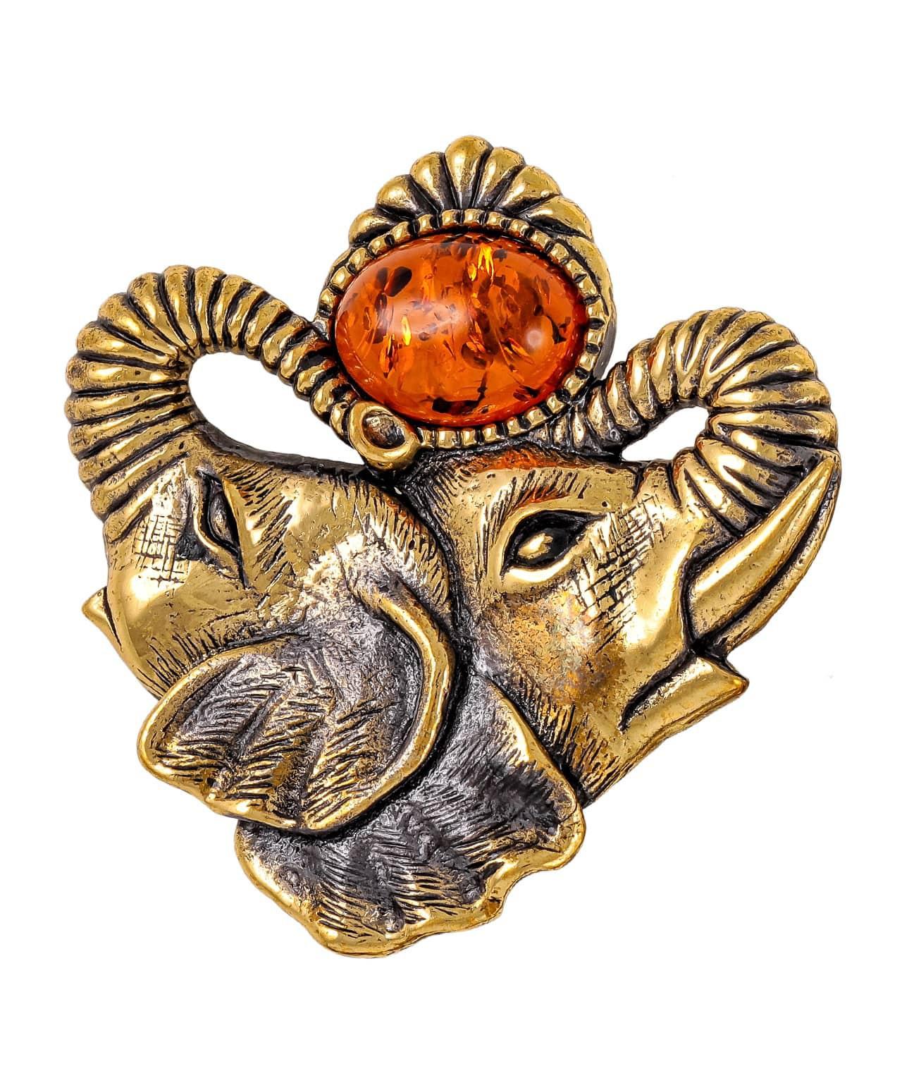 Брошь Слоны Индия 1816.4