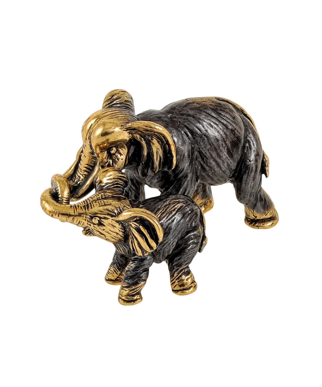 Слон мама с малышом без подставки 1850.1