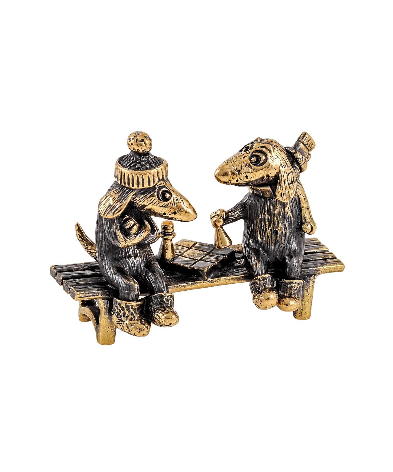 Собаки Пара шахматы без подставки 1867.1