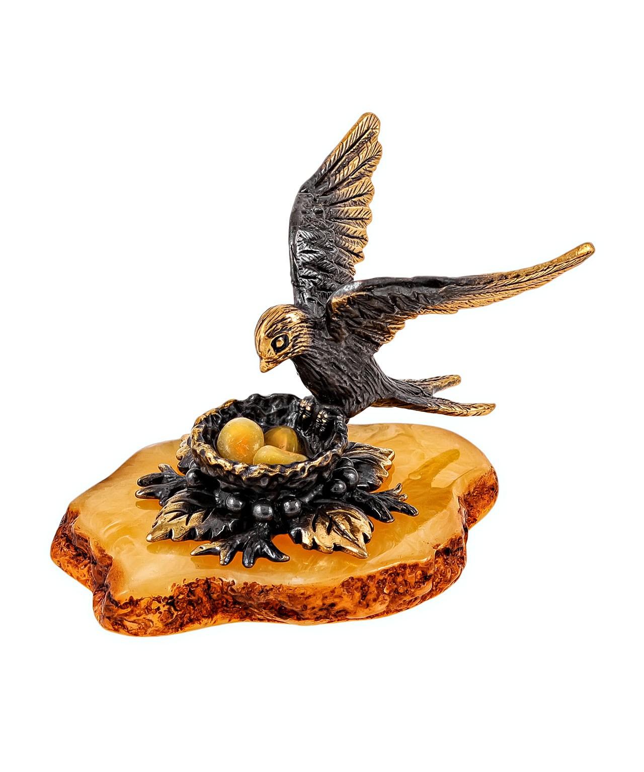 Птица Ласточка на гнезде 1929