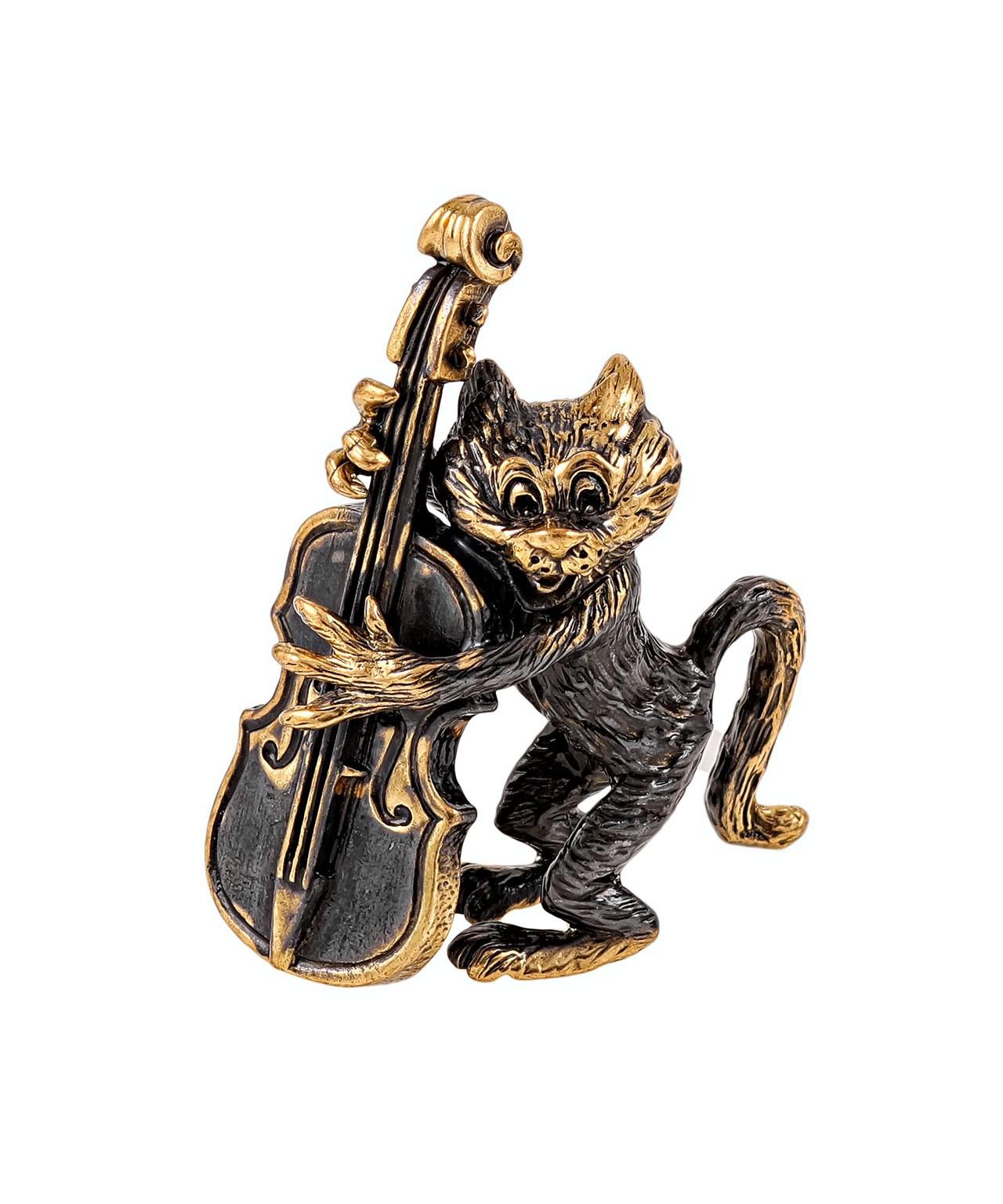Кот с контрабасом без подставки 1939.1