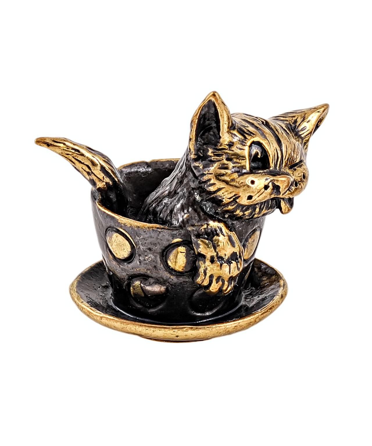 Котик в чашке без подставки 2036.1