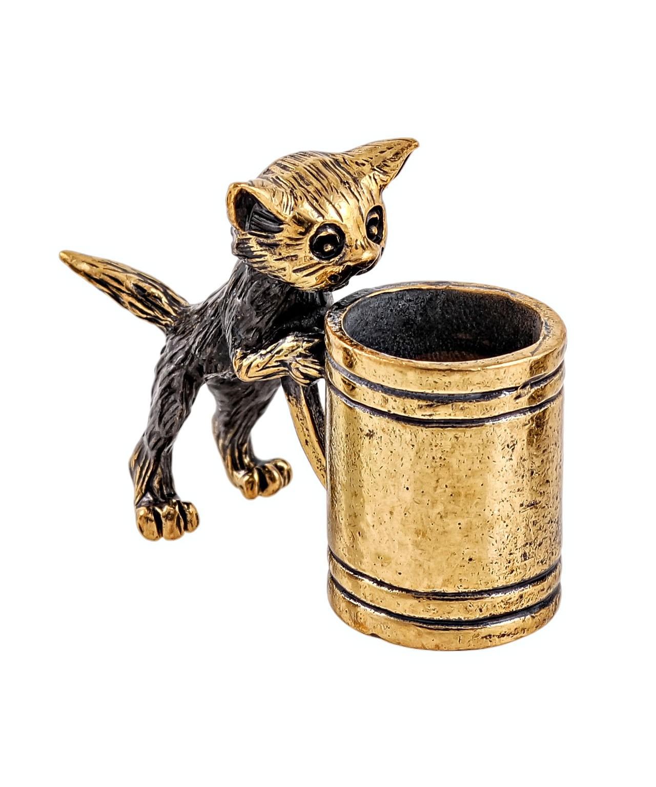 Котик с кружкой без подставки 2037.1