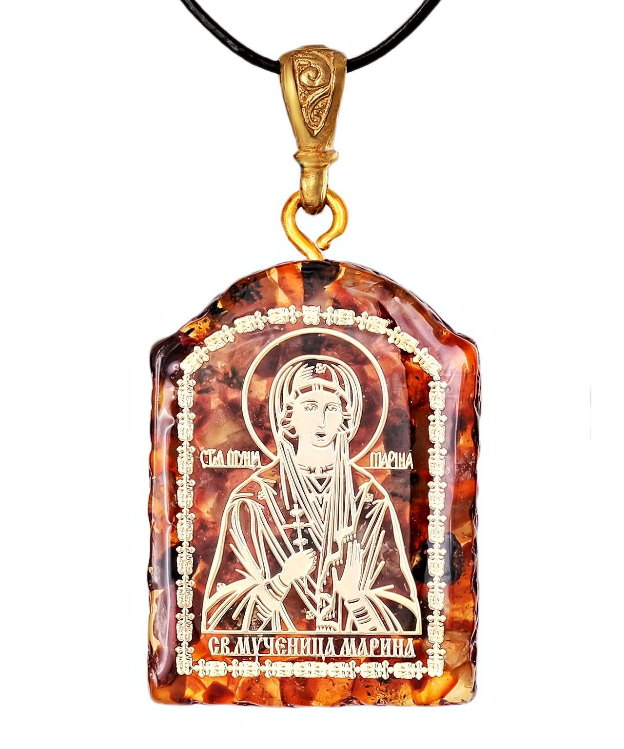 Подвеска Иконка  Св. Мученица Марина 2052.6.5