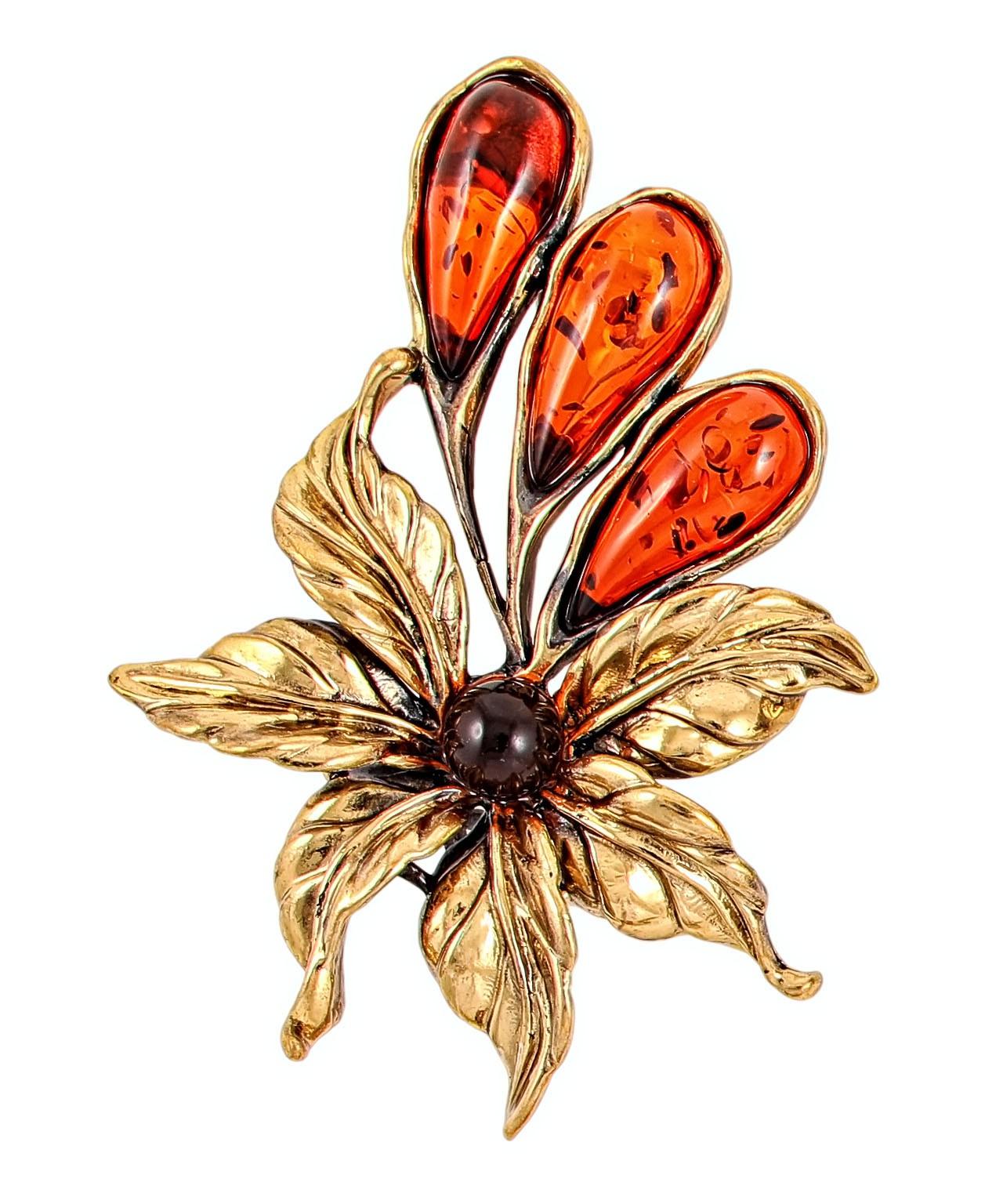 Брошь Цветок тропический 2107.4