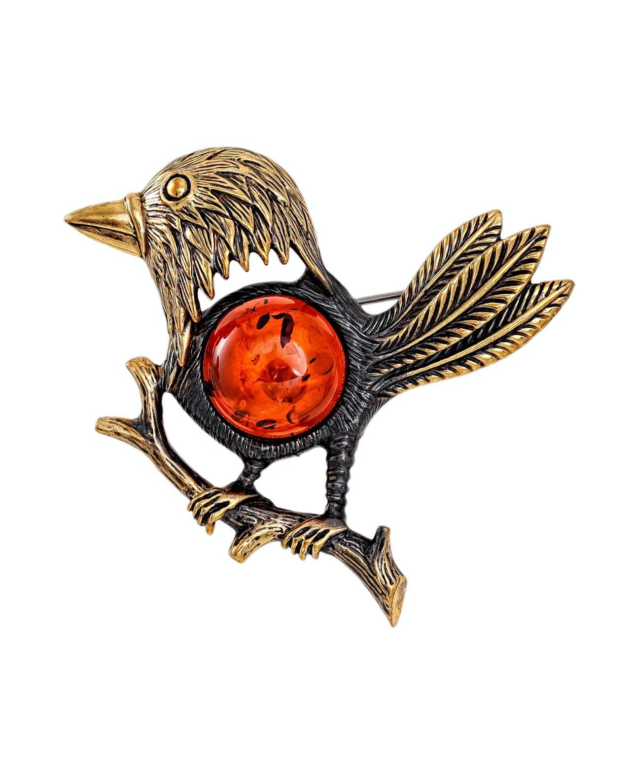 Брошь Ворона Каркуша 2115.4