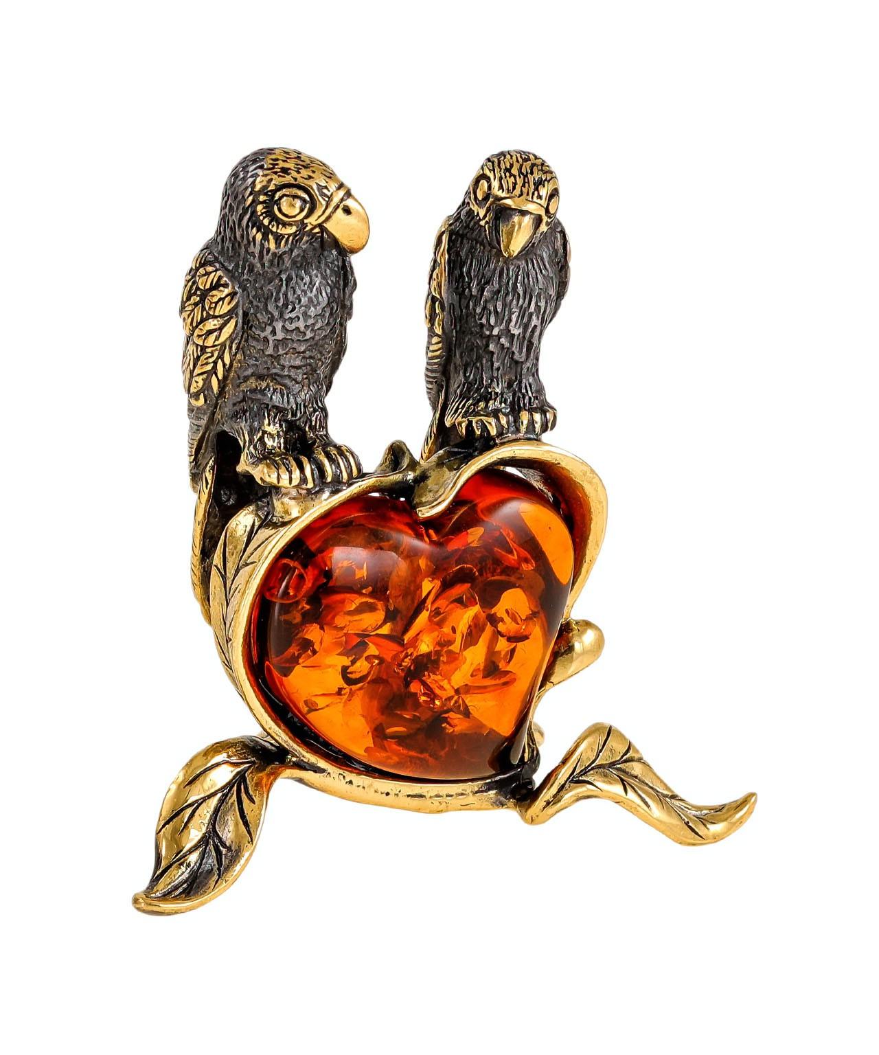 Птицы Попугаи Неразлучники одно сердце на двоих 2155