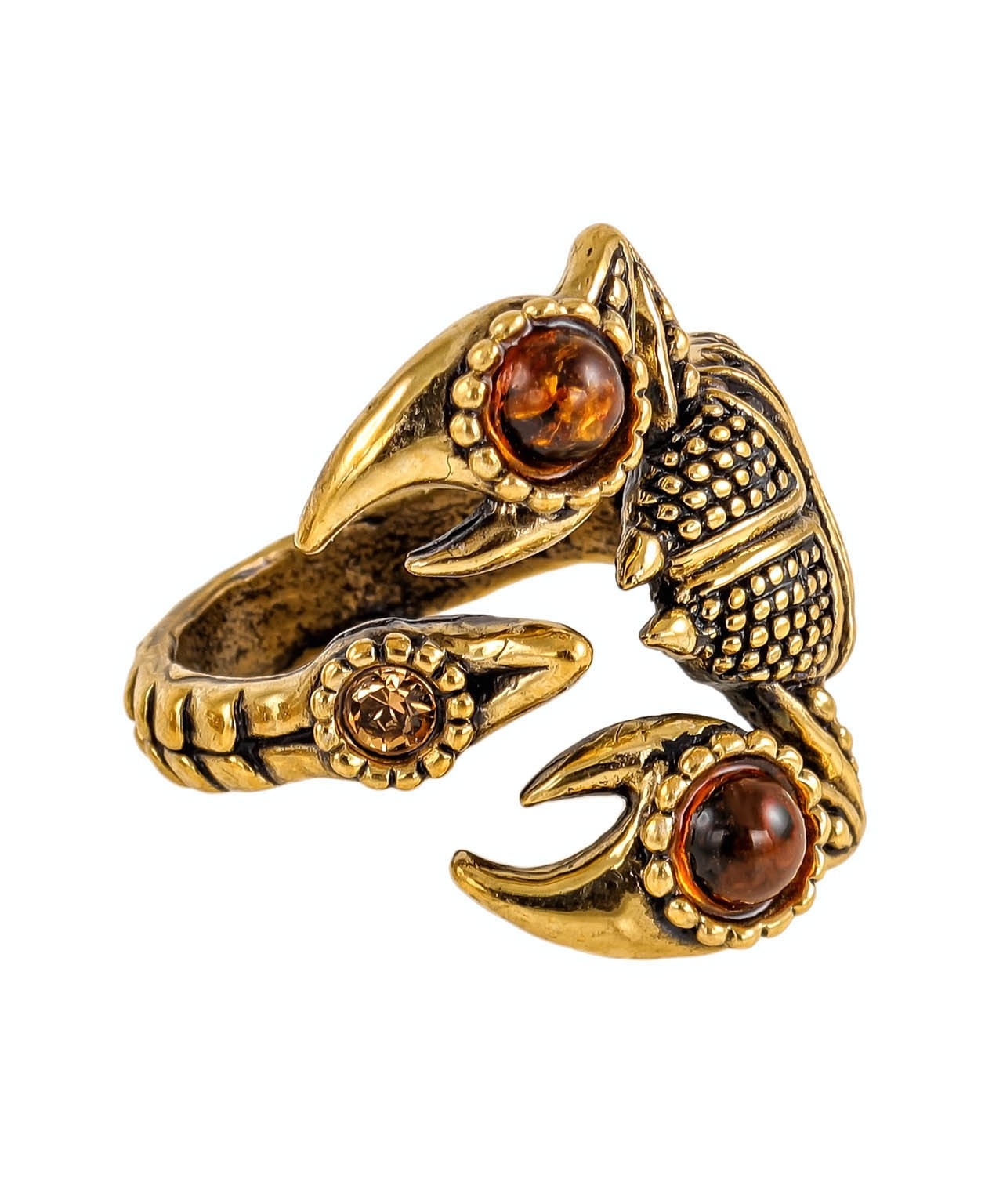 Кольцо Скорпион со стразом 2363К