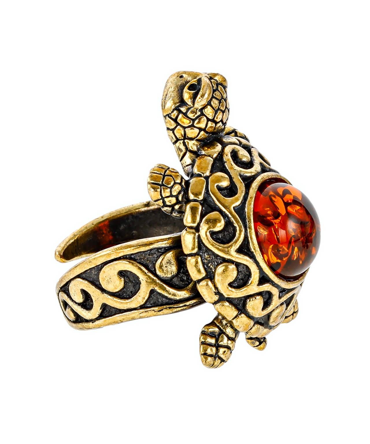 Кольцо Черепаха Удача 2412К