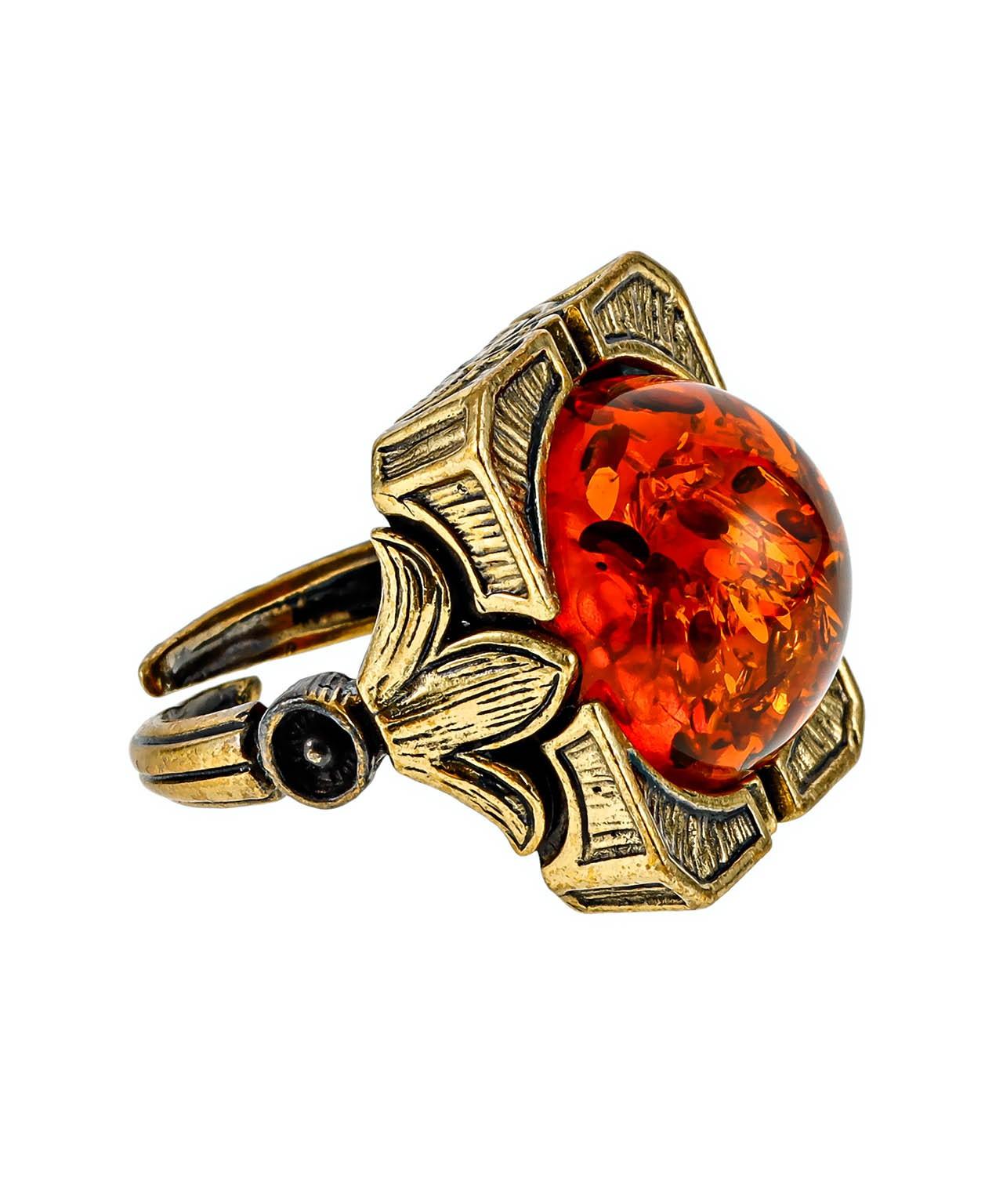 Кольцо Лилии Квадрат 2416К