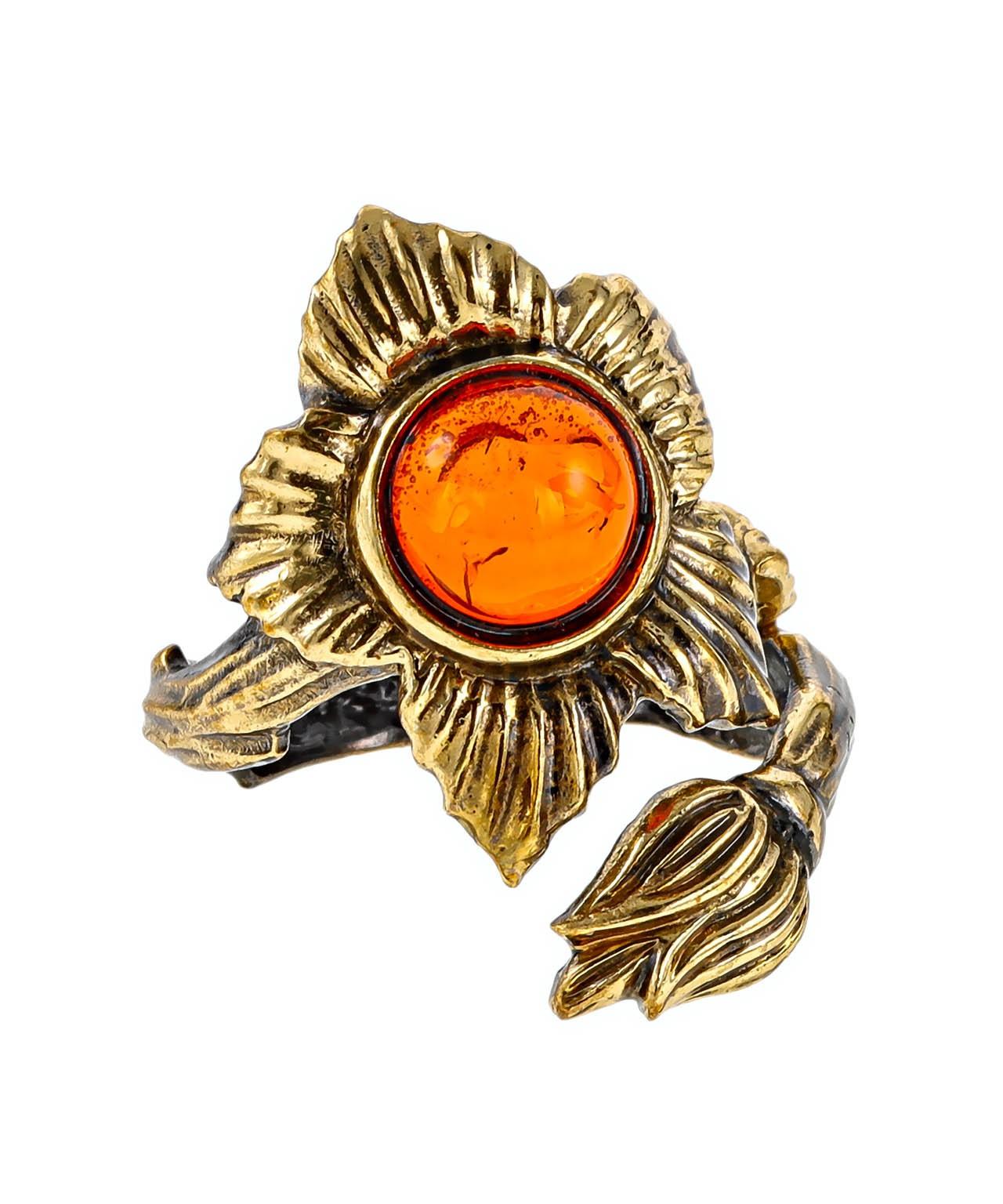Кольцо Цветок 2438К
