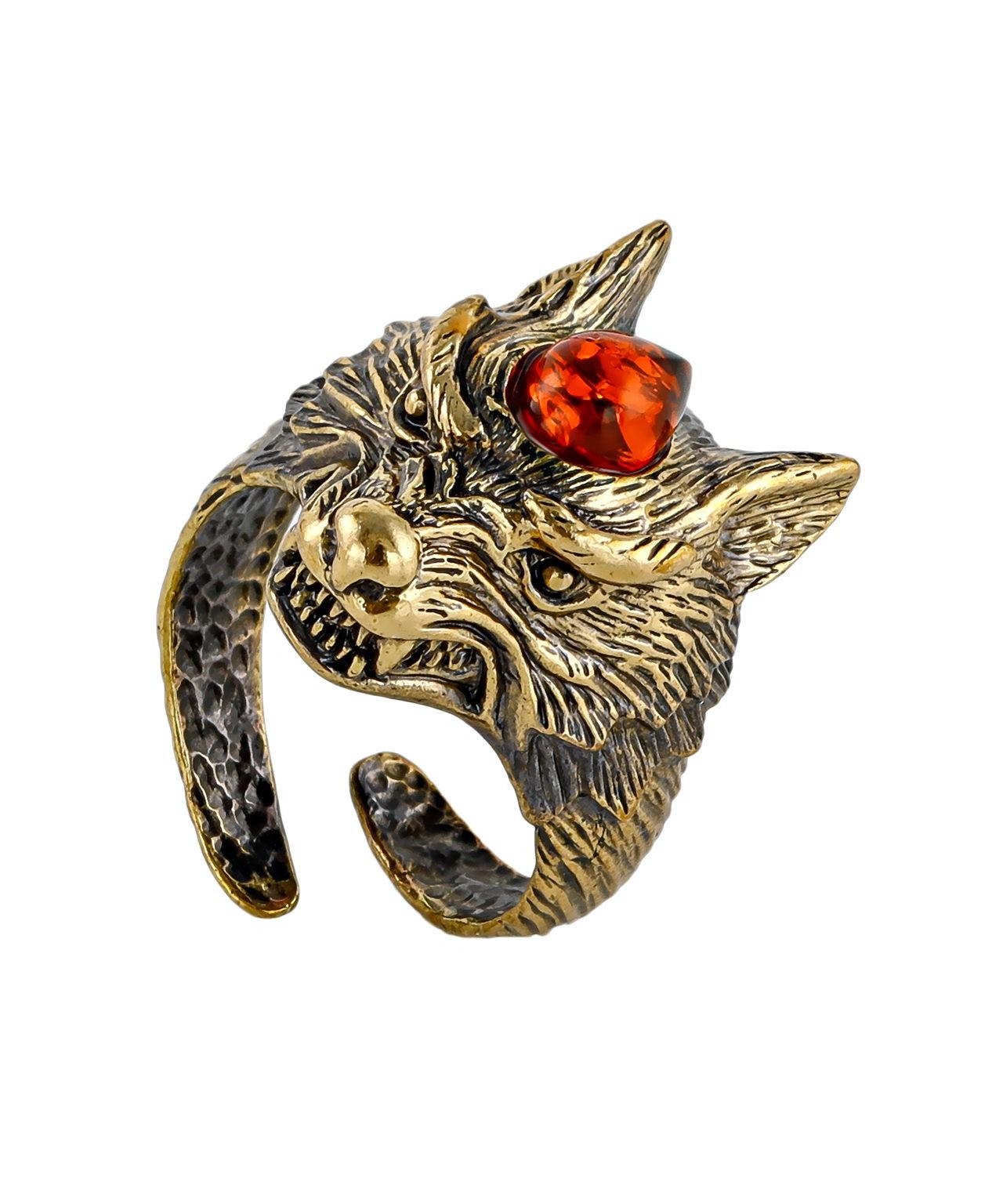 Кольцо Волк 2494К