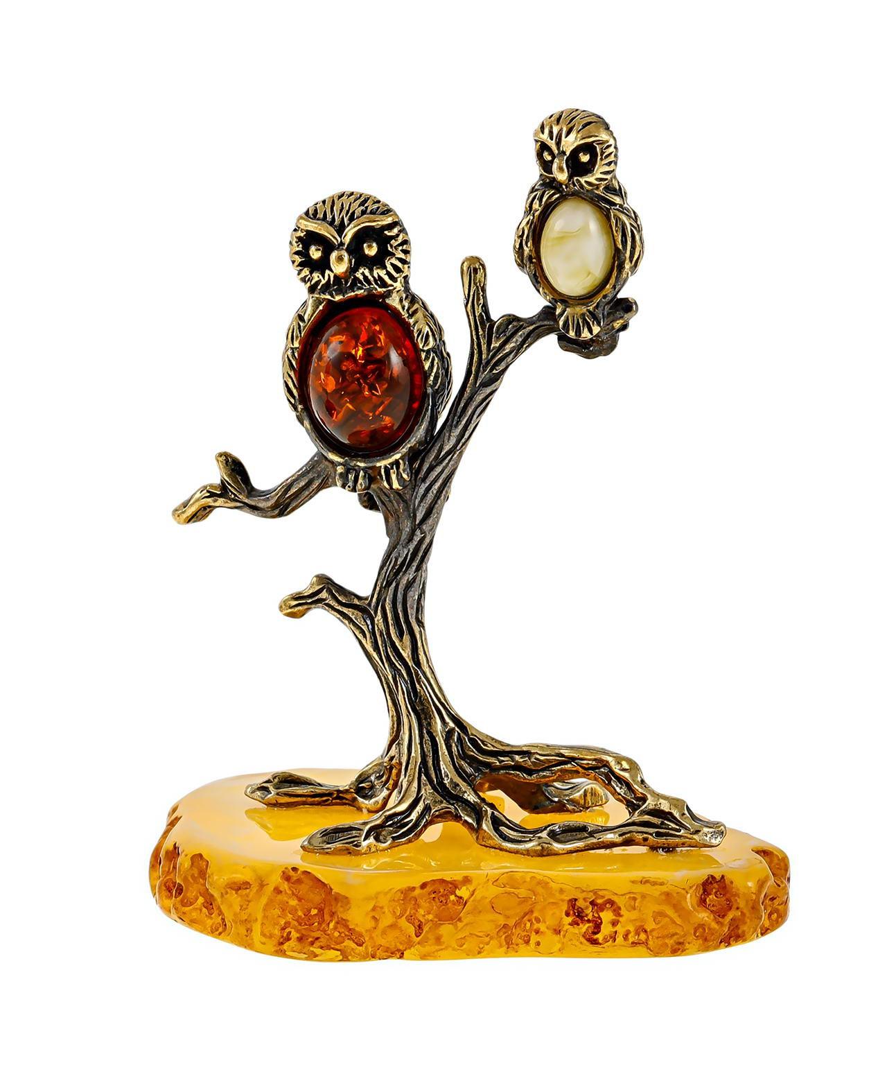 Птицы Совушки на дереве 2544