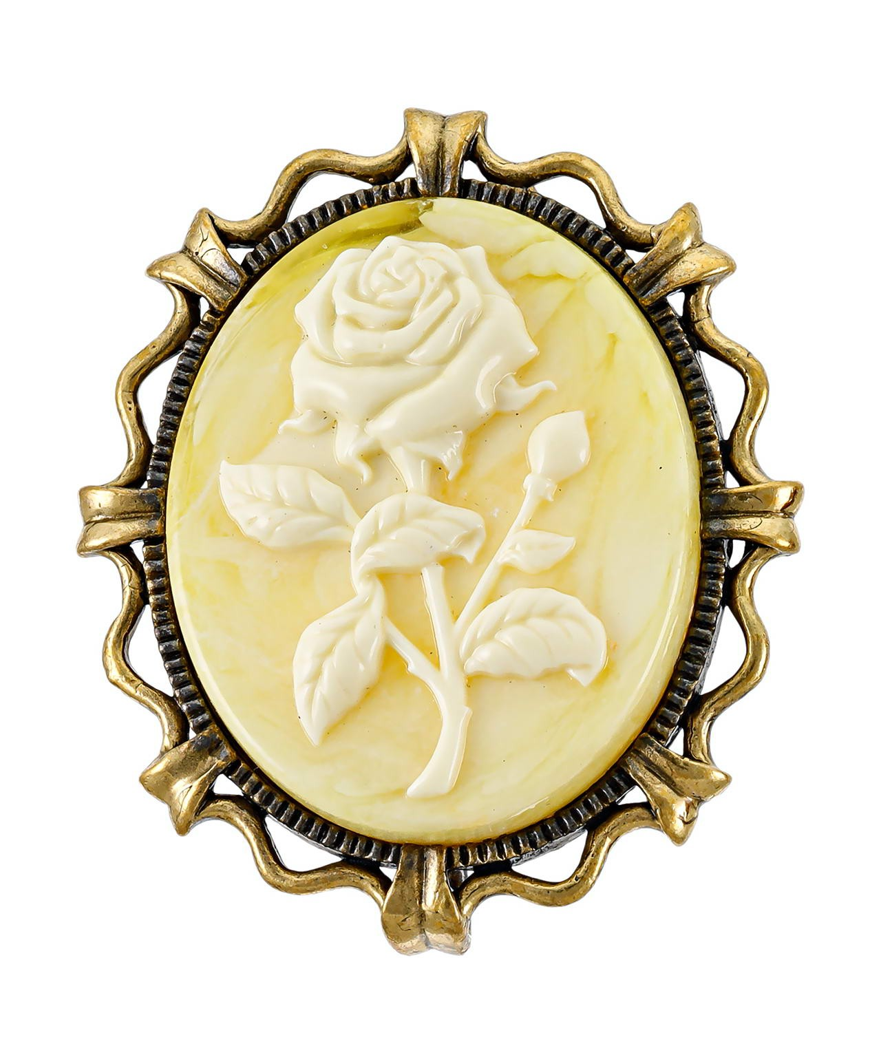 Брошь Камея Роза 2614.4