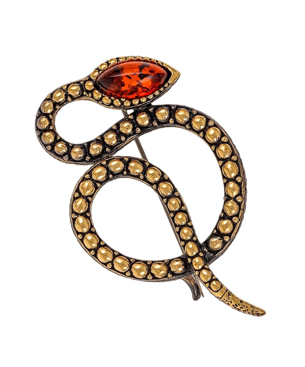 Брошь Змея Гремучая 1957.4