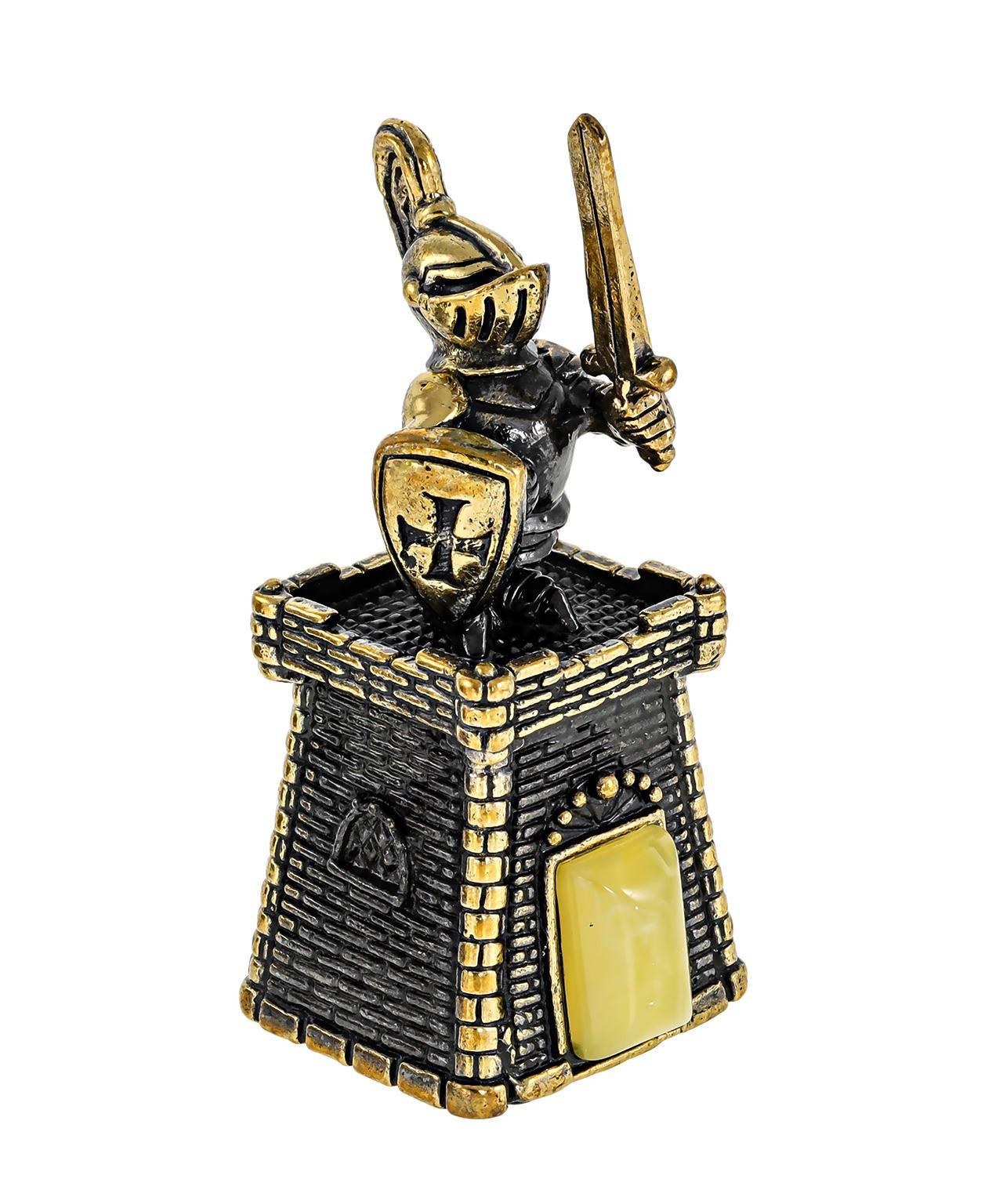 Колокольчик крепость с рыцарем пешкой 617