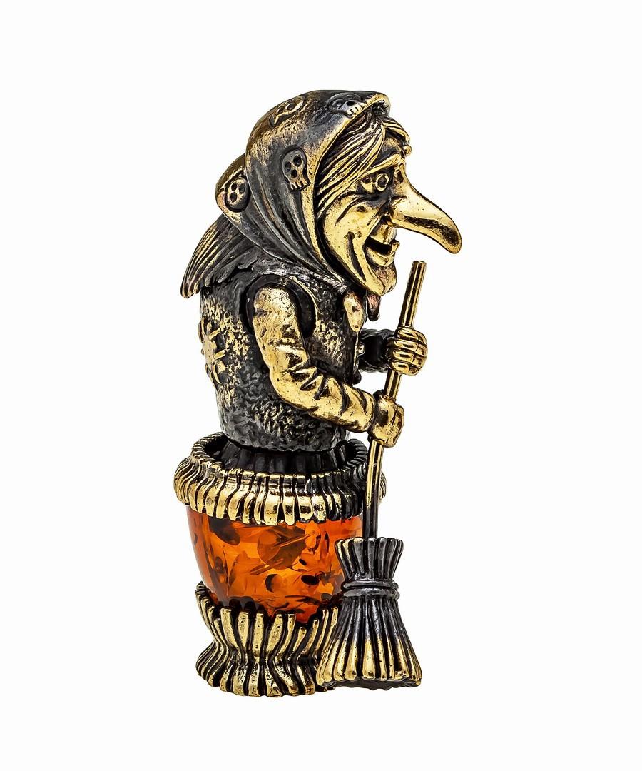 Баба Яга в ступе малая 1149
