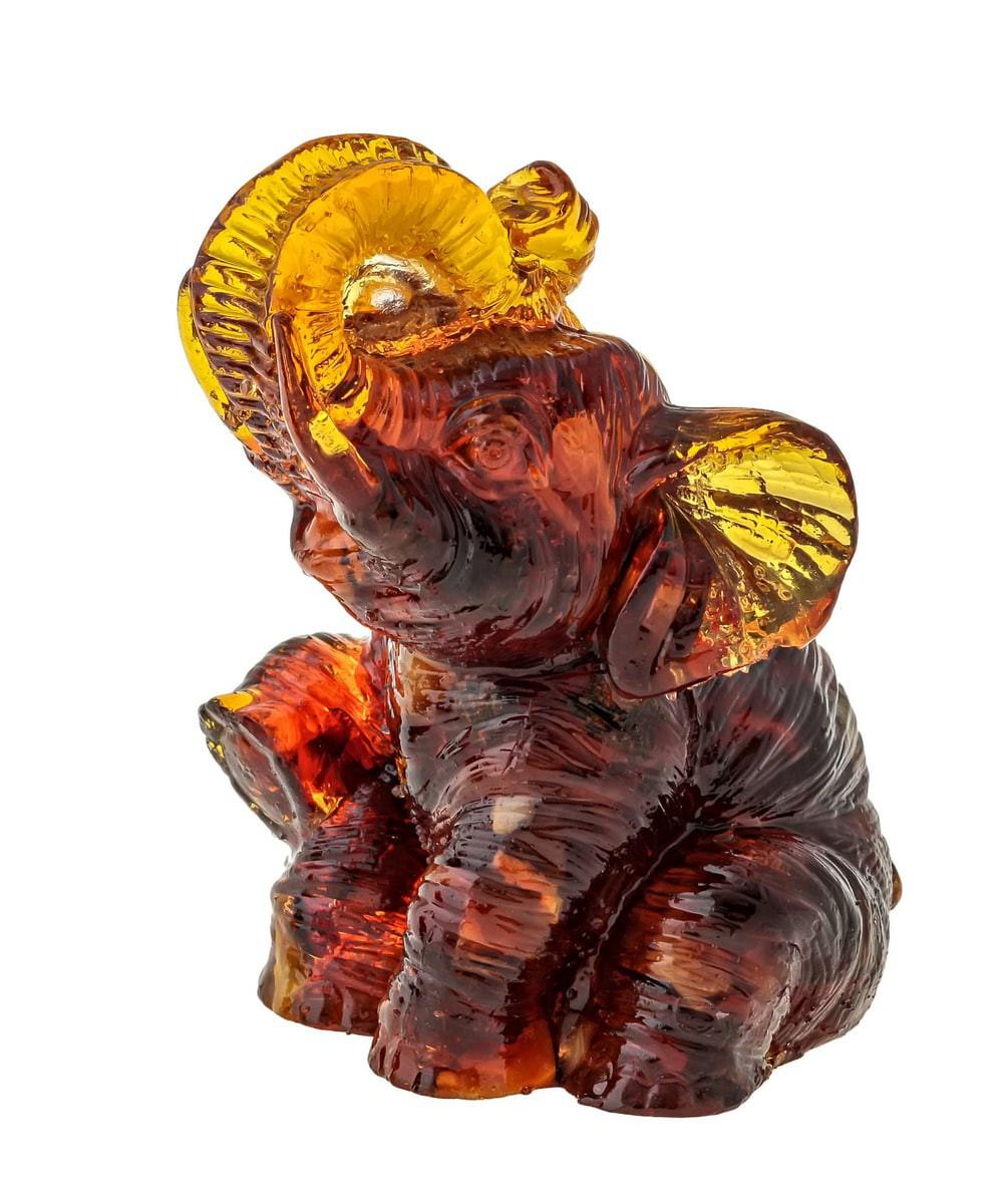 Слон Полли маленький  Янтарный 658