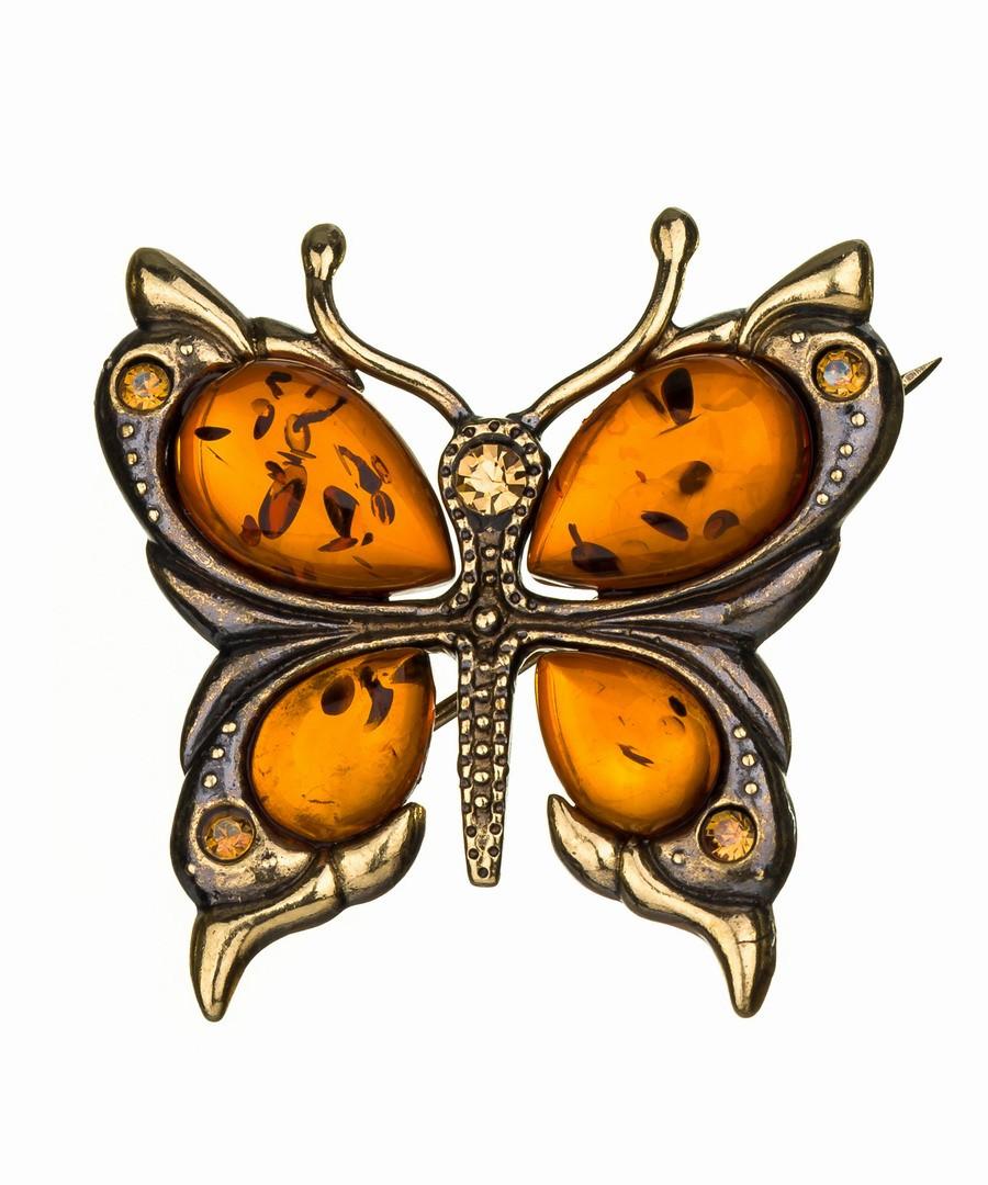 Брошь Бабочка со стразами-2 487.4