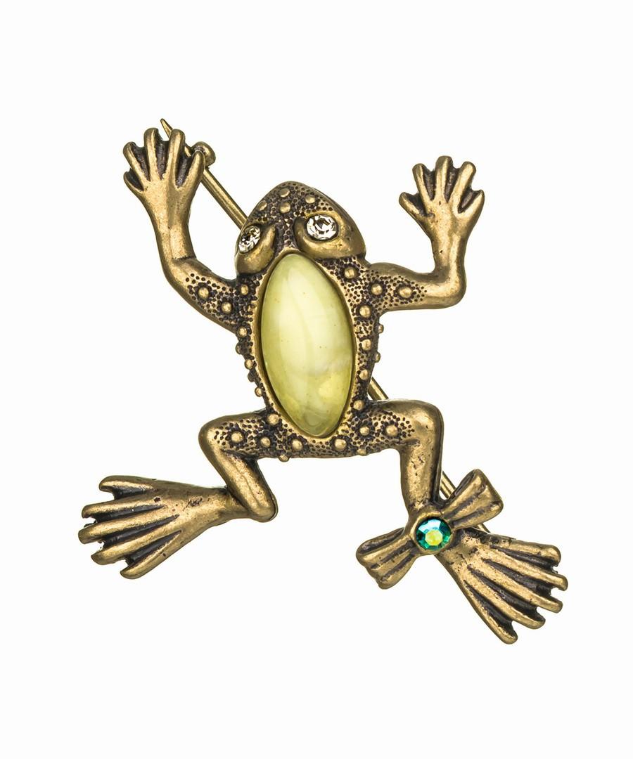 Брошь Лягушка с бантиком на лапке 430.4