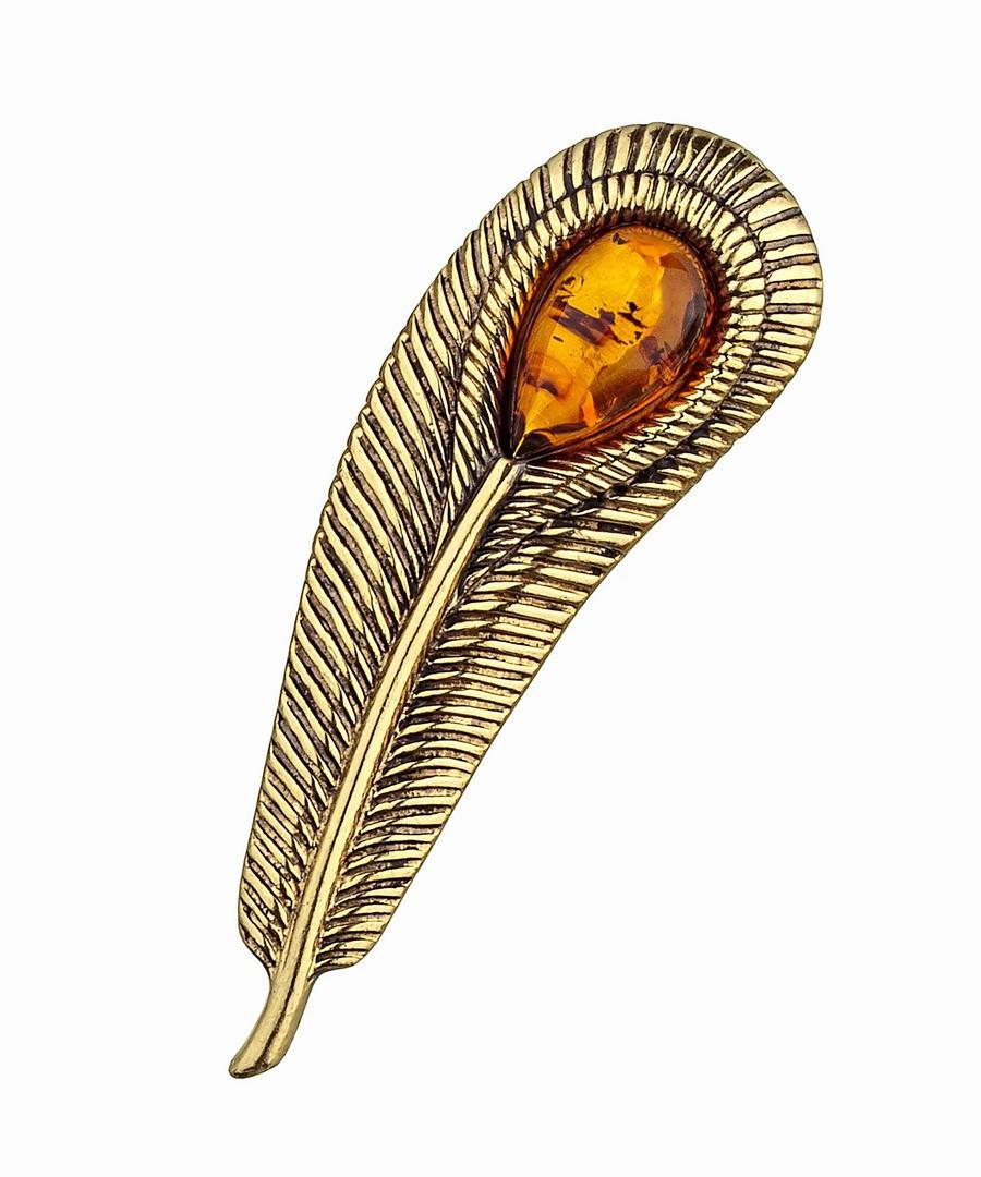 Брошь Перо Павлина 896.4