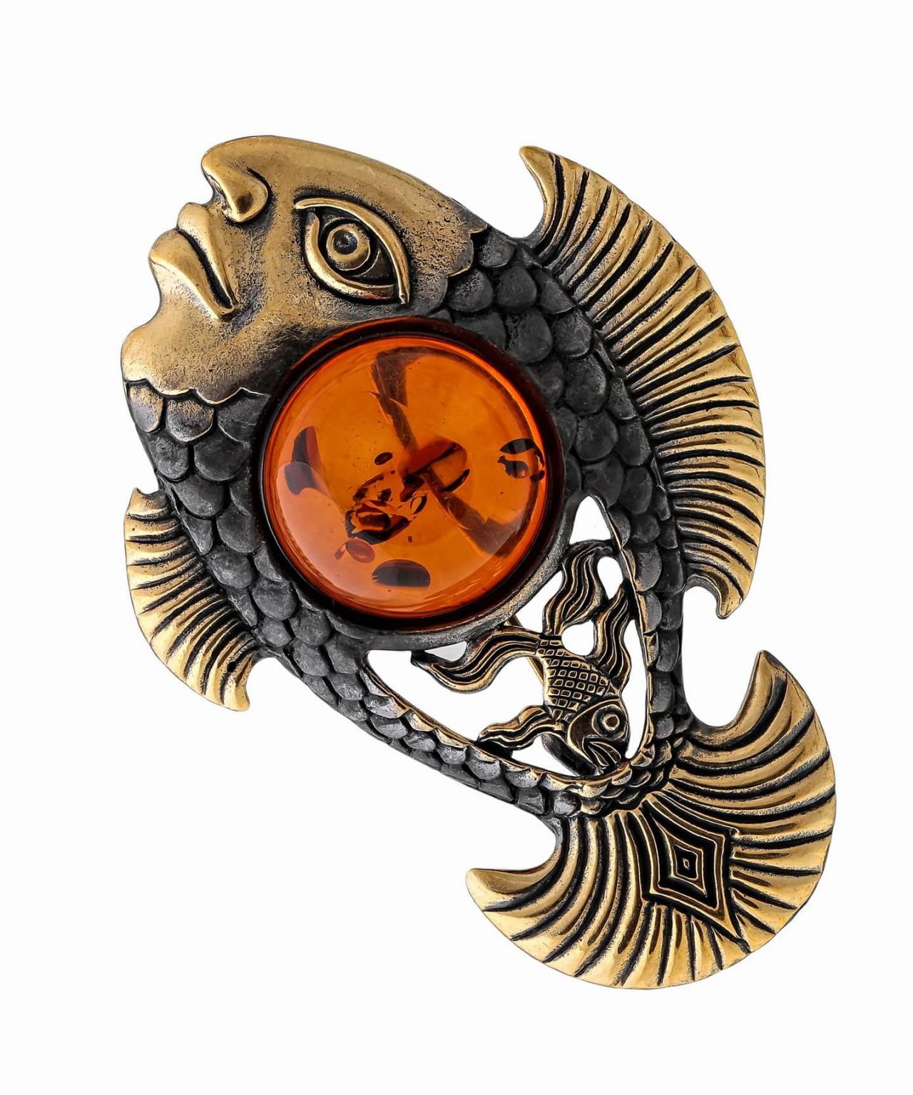 Брошь Рыба Нингё 1617.4