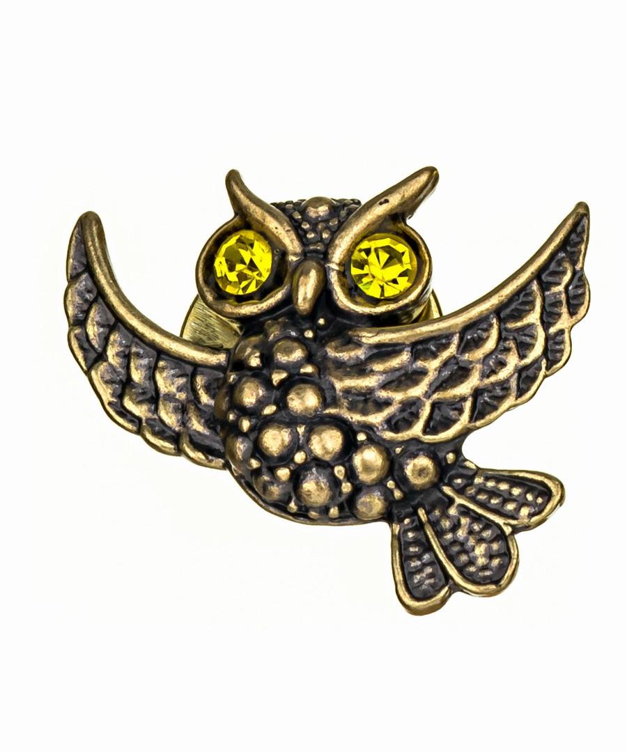 Брошь Совушка летящая 352.4