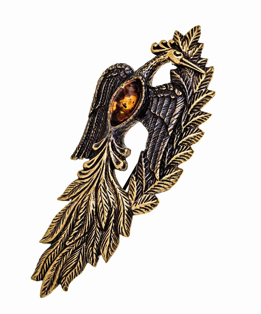 Брошь Жар птица 1005.4