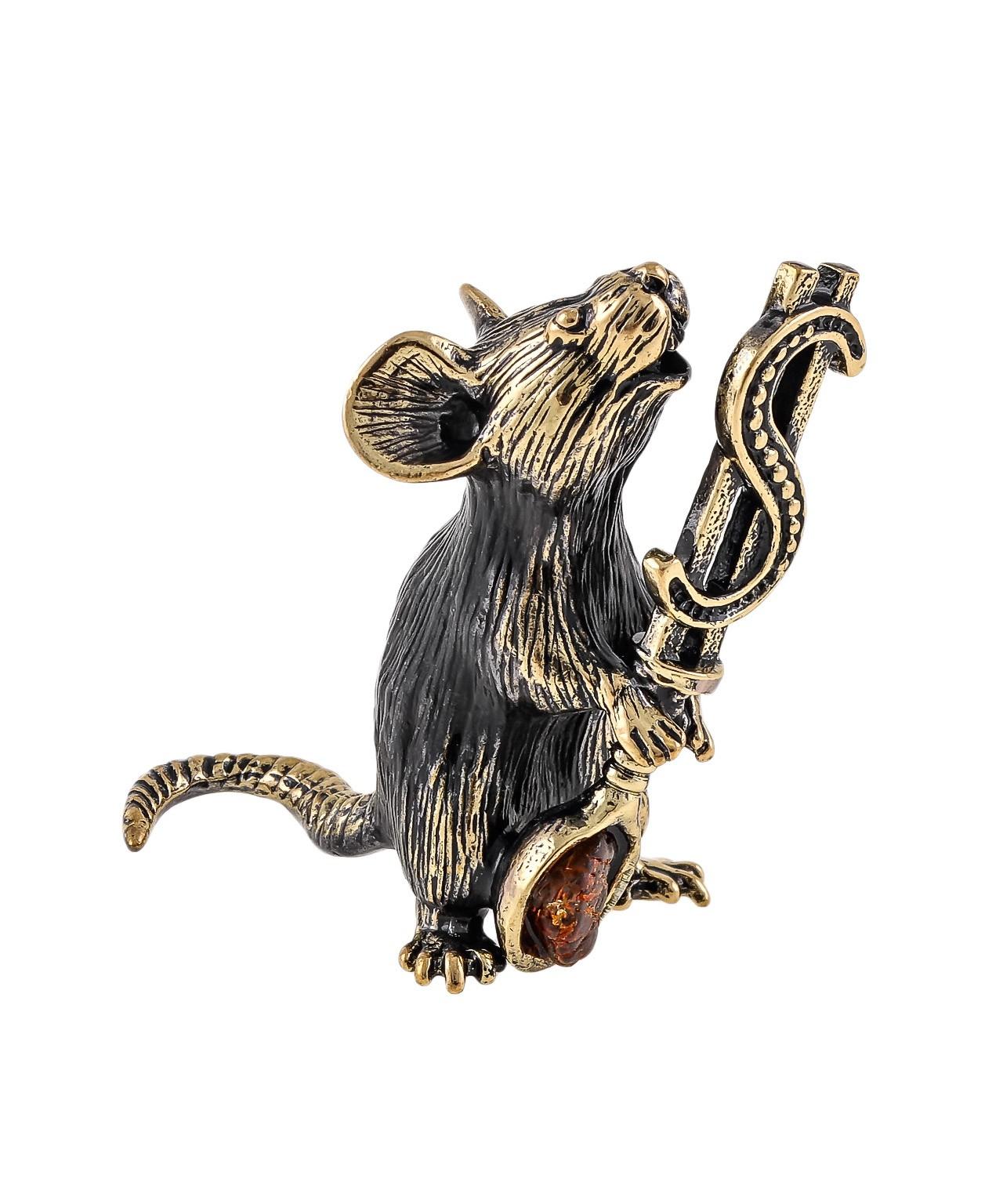 Мышь с ложкой Доллар без подставки 1102.1