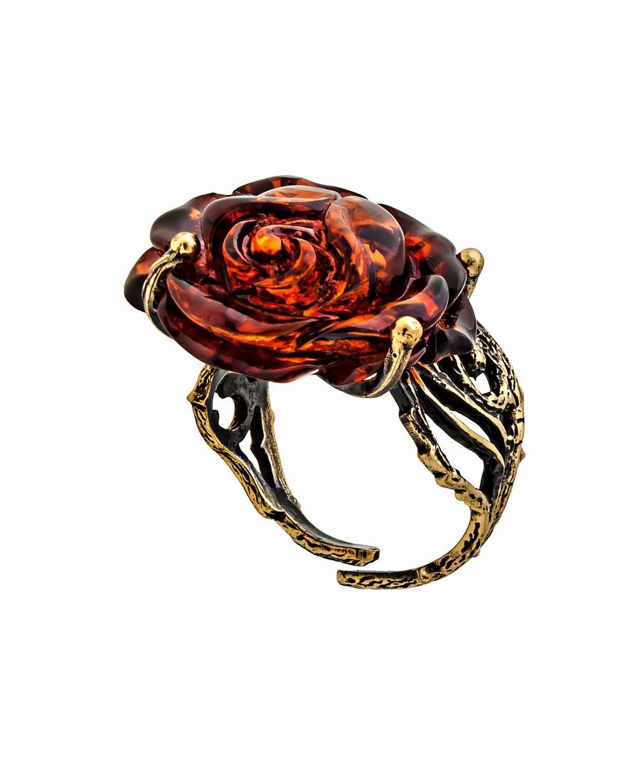 Кольцо Розочка ажурная 1161К