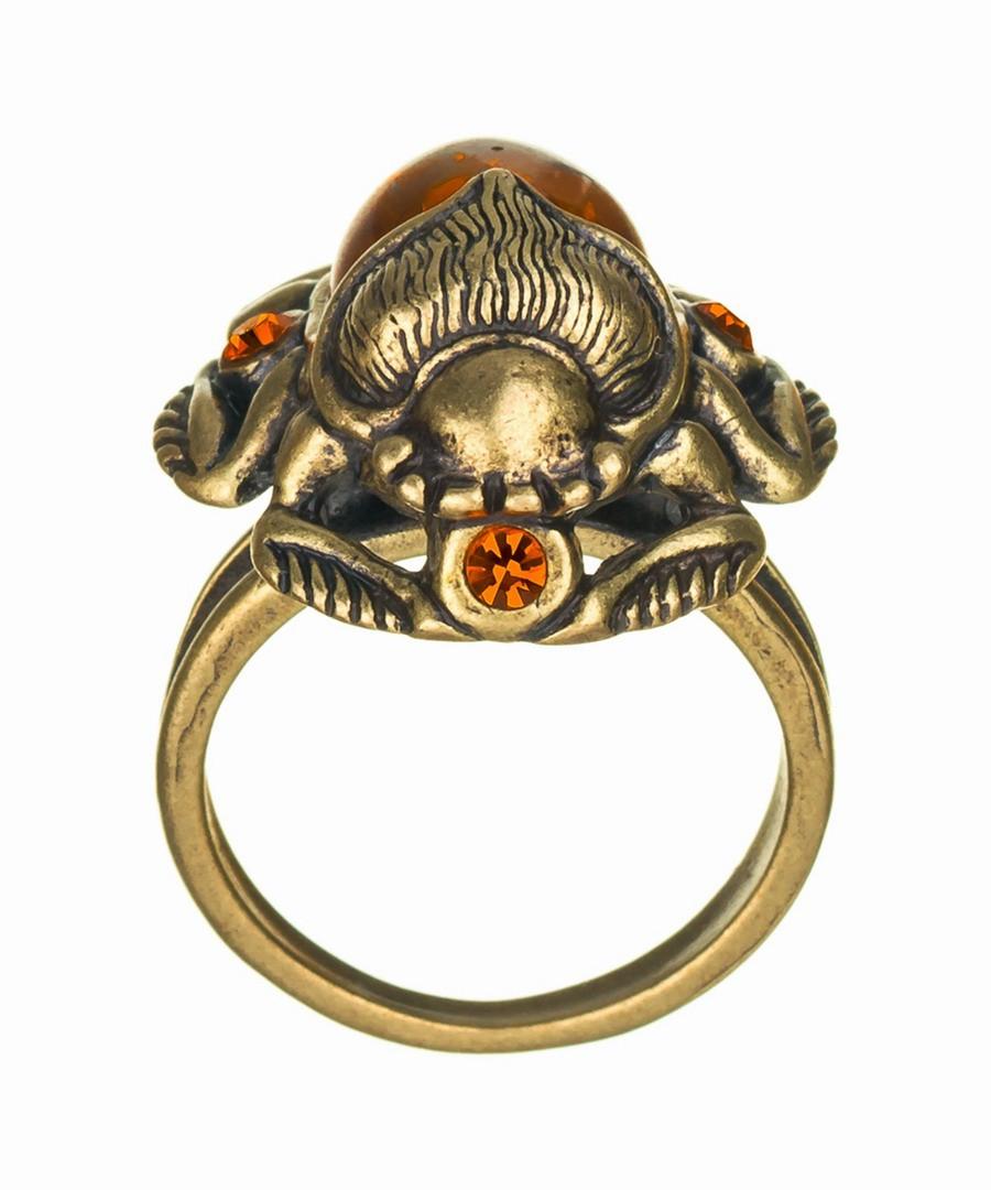 Кольцо Жук скарабей со стразами 553.1
