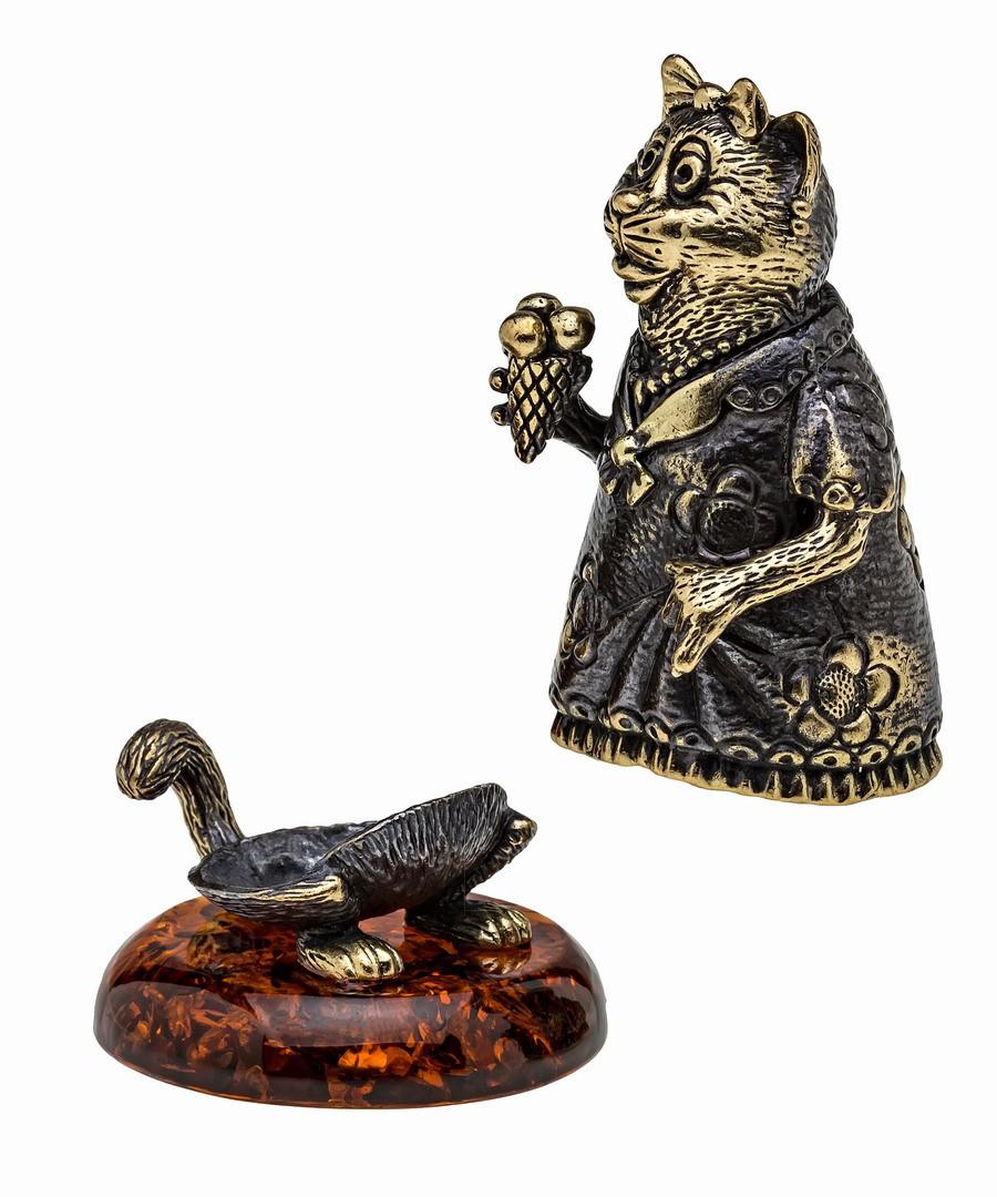Колокольчик Кошка с мороженым 1069