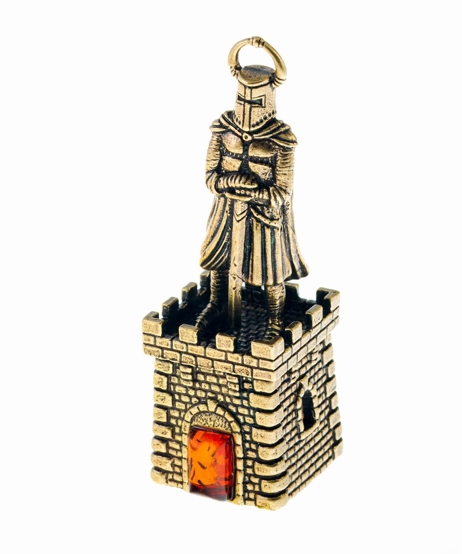 Колокольчик Крепость с рыцарем с мечом 627