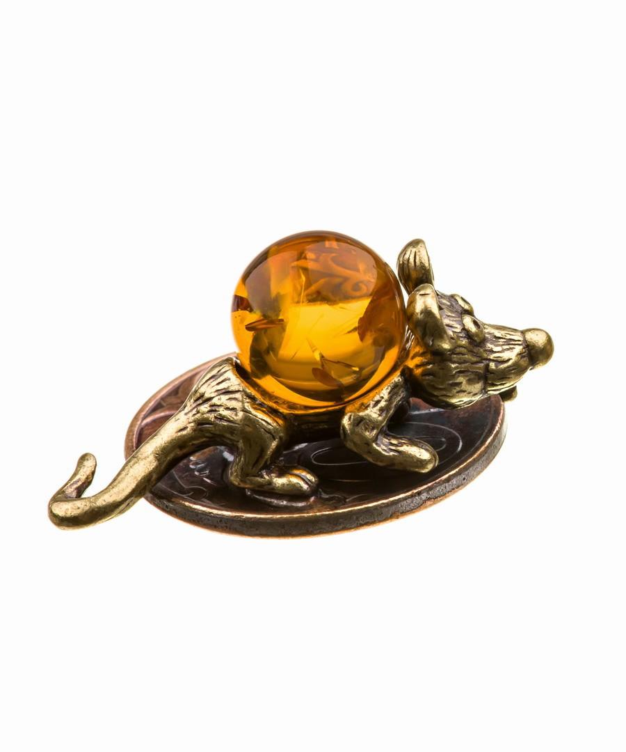 Кошельковая мышь-6 Зубастик на монетке 639
