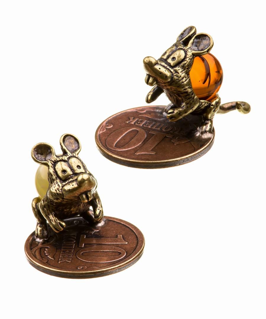 Кошельковая мышь-7 Ушастик на монетке 570