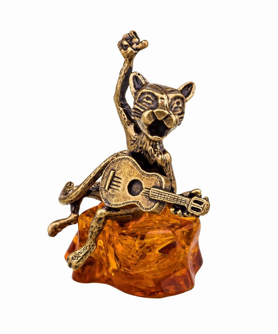 Кот певец с гитарой 597