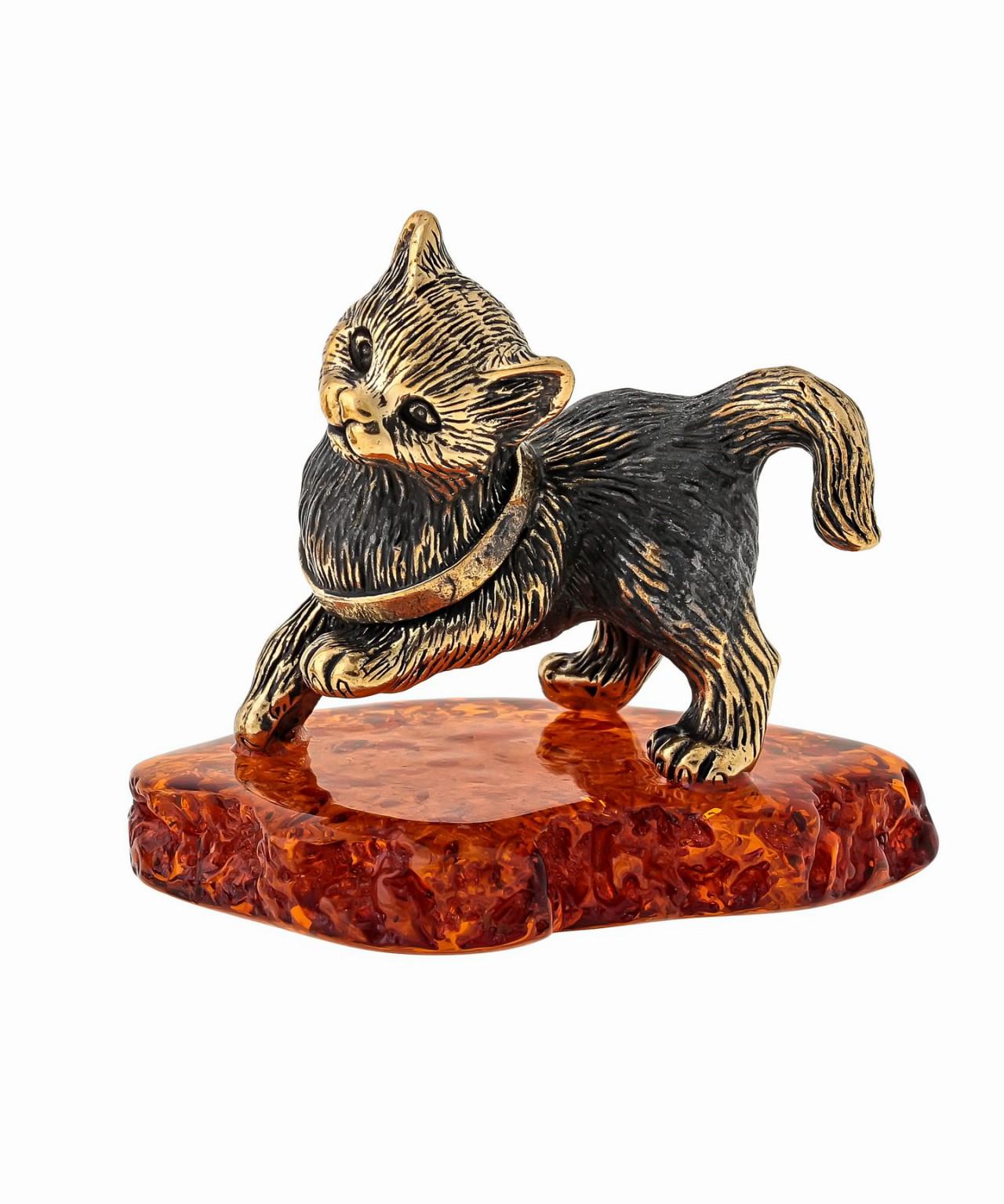 Котик игривый  с бантиком 1538
