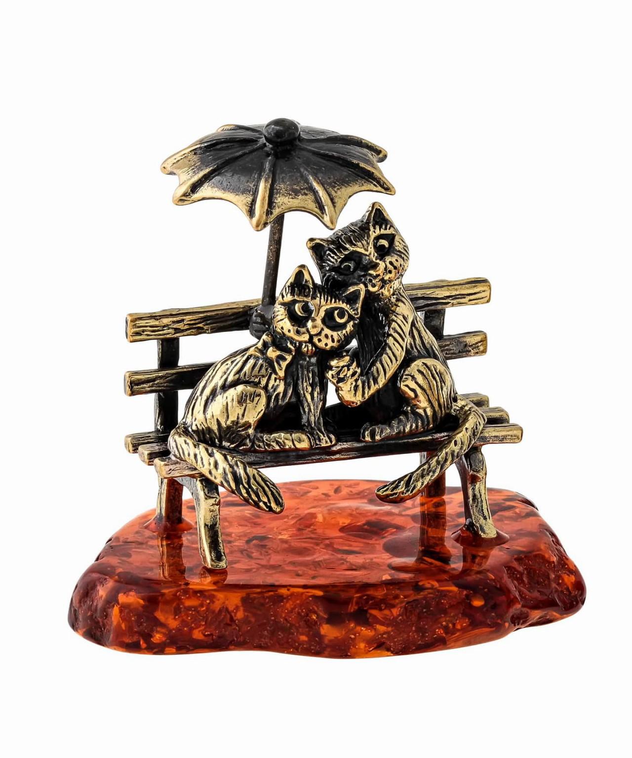 Коты Пара с зонтом 1383